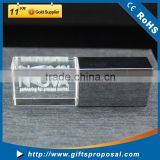 Metal Cap and Crystal Body USB Flash Drive with laser engraving light up logo for promotonal gift