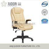 Judor High Back Ergonomic Executive Leather Office Chair massage office chair With Footrest
