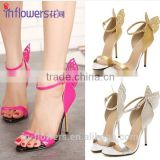 Back butterfly ankle strap high heels women fancy shoes