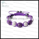 Heavy alloy with rhinestone shamballa bracelet