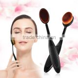 Hot 1Pcs Power Makeup Brush Beauty Oval Make Up Brushes Cream Puff Cosmetic Toothbrush-shaped Foundation Brush Blend Tools