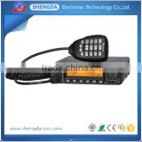 Adjustable single band dual display digital ham radio or mobile car radio with military quality and factory price