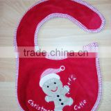 infants & toddlers&children's cotton baby bibs customized embroidered christmas logo bib-28 for baby Image