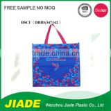 Personalized own logo high quality plastic packaging bag/reusable non woven shopping bag/PP promotional gift bag