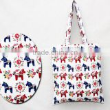 Prited Horse bag, Tote bag, Cotton linen, Shoulder bag, Tote Bag Pattern, Market Bag Grocery Bag, Printed Tote bag,