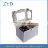 Aluminum Cosmetic Jars Beauty Case Makeup Vanity Box With Mirror Empty Makeup Case ZYD-HZ102202