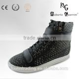 2015 python pattern silver plating outsole sneaker