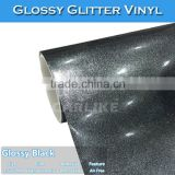 CARLIKE Pearl Glossy Glitter Diamond Black Automobile PVC Decoration Film