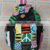 peace sign bags 2014 from india backpack model