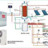 MACON split type EVI DC inverter heat pump for cold area house heating and domestic hot waer