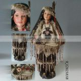 Wholesale porcelain dolls 18inch Timeless Collection Indian Doll