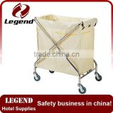 Stainless steel hotel folding laundry cart maid trolley                                                                         Quality Choice