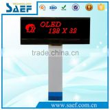 OLED type 128x32 Graphic red transparent oled display LCD module SPI /I2C SSD1311