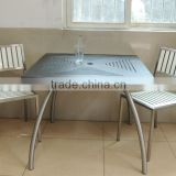 Simple HPL Design Restaurant Dining Table And Chairs Cafe Furniture Wholesale                                                                         Quality Choice
