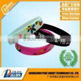 UV Reflective Silicone Bracelet, Cutom Sun Sense Color Change Wristband
