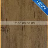 PG7004 wood grain laminate pvc floor with fibreglass                                                                         Quality Choice