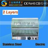 Buffet stainless steel food warmer with 2 layers hot food display stand counter (SUNRRY SY-WD2C)