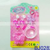 New baby toy cheap toy wholesale pink plastic mini earring and bangle toys