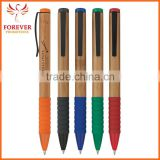Wholesale Custom Logo Ballpoint Pen Eco-friendly Natural Bamboo Barrel Twist Action Ballpoint Pen New Design