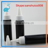 hot sell 1oz plastic e liquid pet dropper bottles with twist caps long dropper twist off caps
