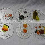 round glass coaster,glass cup mat,glass cup pad, beer glass coaster