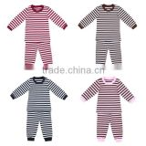 2016 knitted children pajamas sleepwear black wine brown pink striped fall pajamas suit boutique kids clothing toddler pajamas