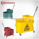 20L Wave in Brake Combo with mop Cleaning Wringer Bucket and Castors/Hotel Cleaning Equipment