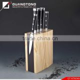 6 pcs forged pom handle kitchen knife set with wooden magnet block