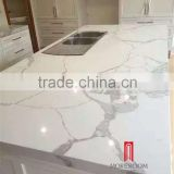 marble look calacatta white quartz stone slab artificial countertop