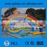 2015 hot sale playground equipment china inflatable floating water slide for adults