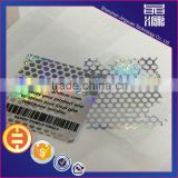 Serial number sticker 3d barcode label silver material hologram sticker
