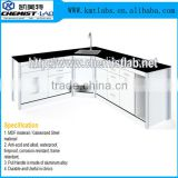 Chemical Resistant Dental Laboratory Furniture Type Dental Lab Work Table With Drawers And Built-In Sink
