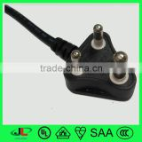 Top quality south africa Standard 250V South Africa electric wire 3 pin plug , SABS certified electric wire