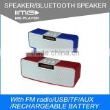 Fashion Design M-0319 New Small Square Sound Box 3WX2 Wireless Bluetooth Speaker with build in Microphone