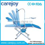 Carejoy Medical Portable Mobile Dental Chair unit with LED Cold Light Full Folding Chairs