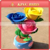 Beautiful rose colorful air dry clay craft