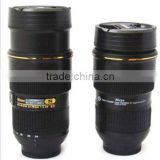 camera lens mug nican 24-70mm PVC and stainless steel travel mug,coffe cup with cap twist