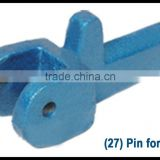 pin for shoe for grinding mill