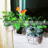home decoration hanging basket modern metal folding plant stand