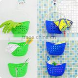 Wholesale Stock Colorful 360 Degree Rotatable Plastic Bathroom Kitchen Hanging Storage Baskets