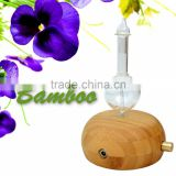 Elegant Bamboo Wood and Glass LED Aroma Diffuser Nebulization Essential Oil Diffuser