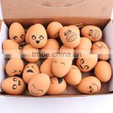 Spot wholesale pet egg shaped elastic rubber ball funny expression chew toy ball 4*5.6cm