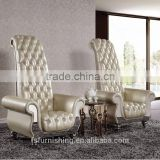 fancy SUPER high back super king living room decoration leisure chair genuine leather wedding chair hotel chair