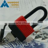 Normal or long shackle Aluminum laminated padlock with rubber cover waterproof gate locks