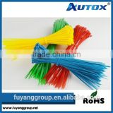 Releasable plastic cable tie/nylon soft cable tie