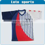 2013 newest blank top style european latest own design of football soccer jersey uniform of soccer socks soccer kit