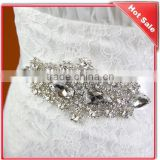 crystal beaded appliques bridal dress waist wedding sash belt