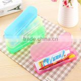 Hot Sale Modern Design Portable Candy Colors Hygienic Travel Camping Toothpaste Toothbrush Holder Protect Case Storage Bo
