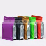 Cheap Price flat bottom colorful aluminum foil packaging bag,stand up plastic bag for dog/cat food packaging