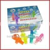 Cross shape necklace bubble water bottle toys